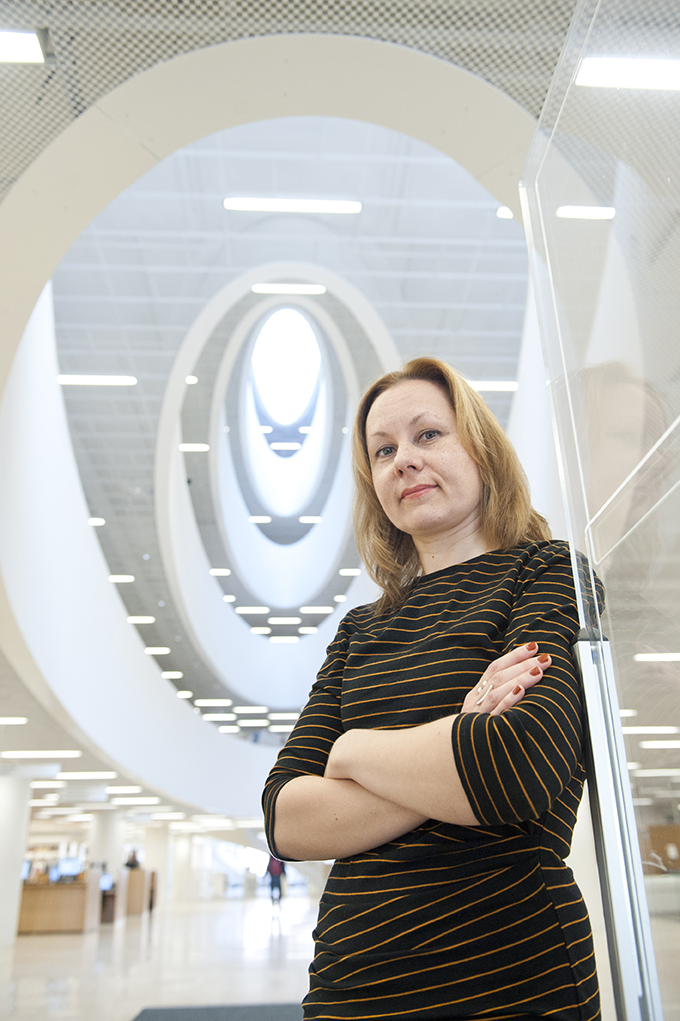 Mari Jussila, Educational Technology Specialist, University of Helsinki. Photo: AFP Jussi Helttunen.