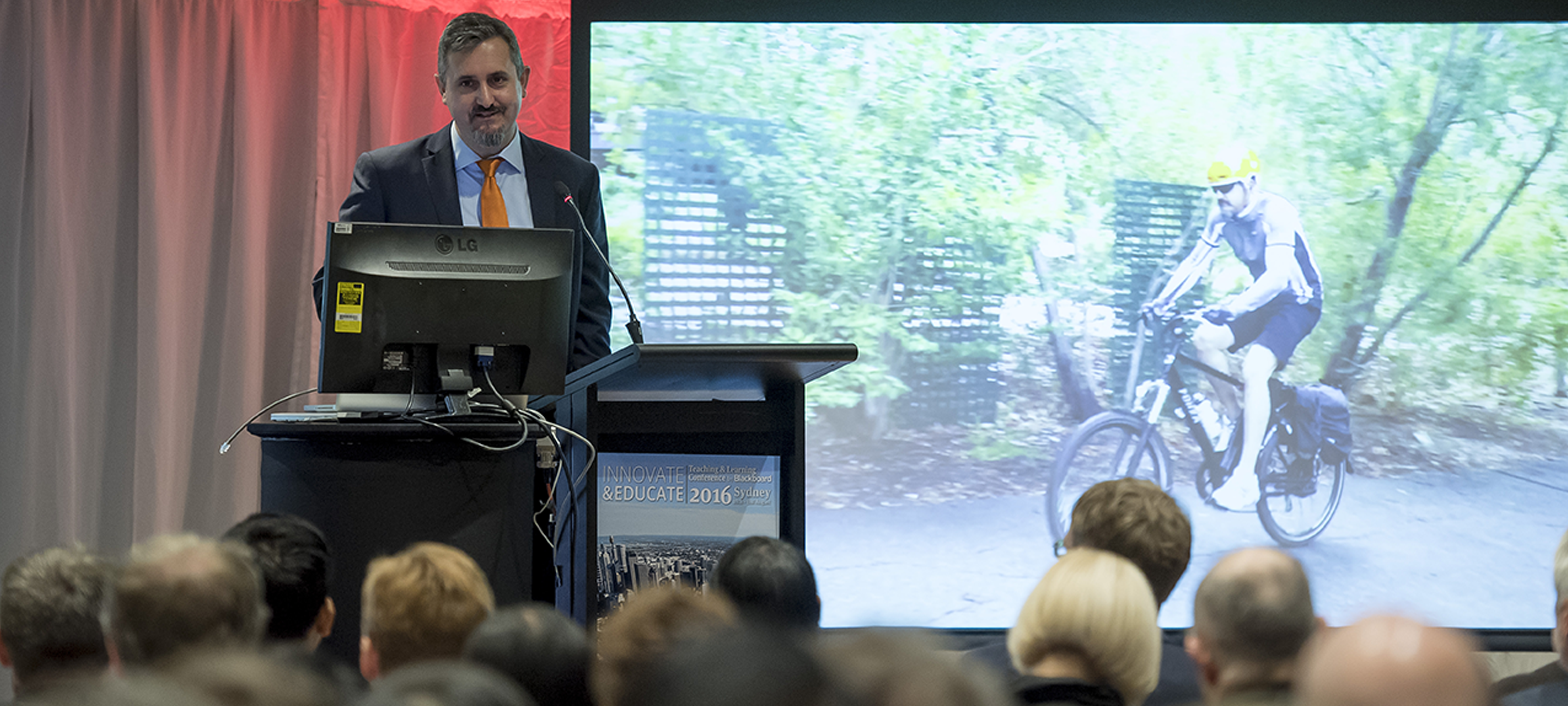 Martin Dougiamas, founder and CEO of Moodle during the TLC ANZ 2016. Photo: AFP Wendell Teodoro.