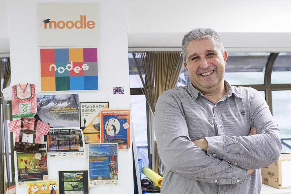 Francesc Busquets, Head of Telematics Services and the person in charge of the Agora-Moodle project in the Catalonia Education Department. Photo: AFP Pau Barrena.