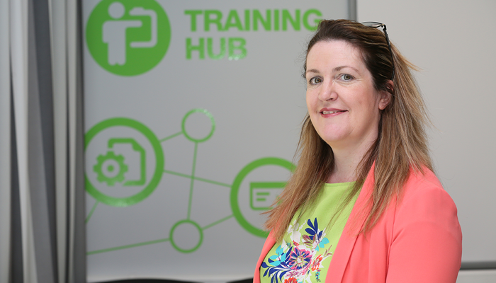 Ciara Duffy, Virtual Services Manager at South West College. Photo by: AFP Paul Faith.