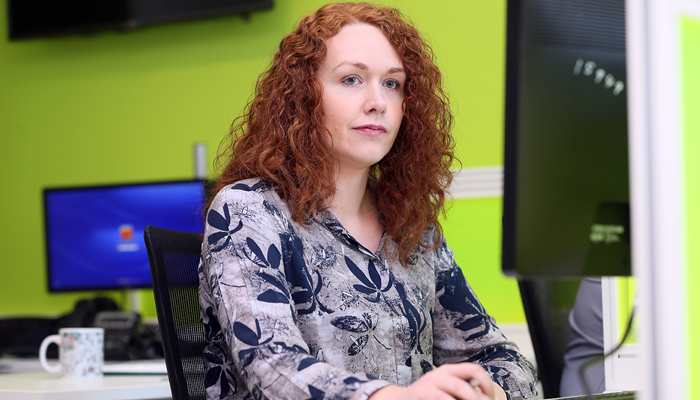 Leona Hill, Software Applications Developer at South West College. Photo by: AFP Paul Faith.