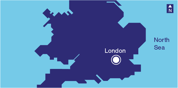 Illustration London location in the United Kingdom map