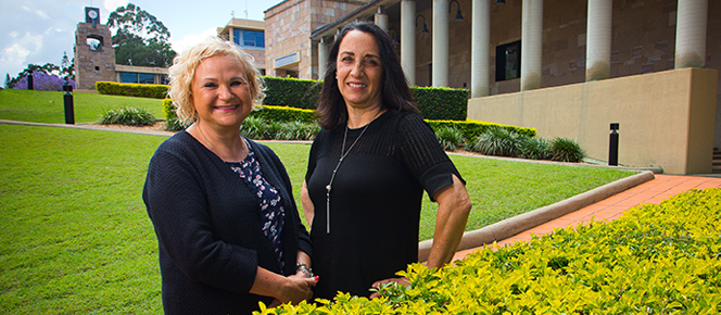 Photo (Left) Dr. Beata Webb, Assistant Professor, TESOL Programs Coordinator, Discipline Leader: Humanities, Faculty of Society and Design and (Right) Alicia Vallero, Senior Teaching Fellow, Faculty of Society and Design at Bond University
