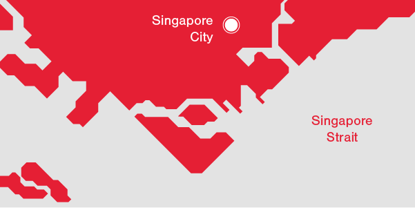 Illustration Singapore's Demographics - Singapore City and Singapore Strait