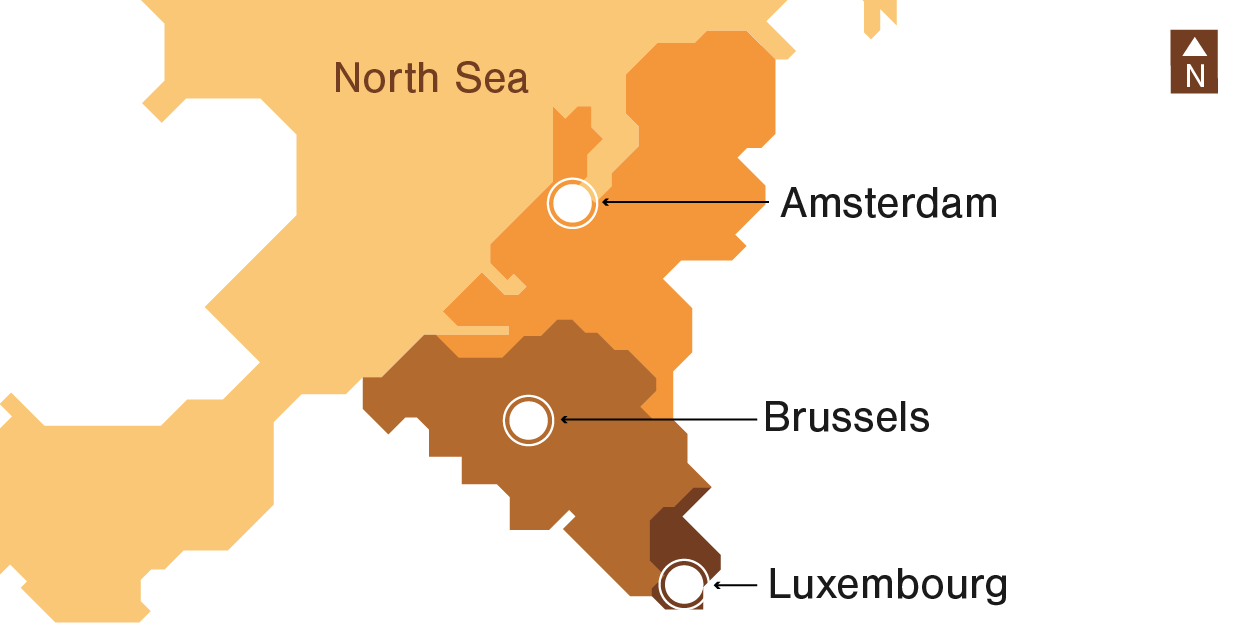 Illustration Benelux's Demographics: map