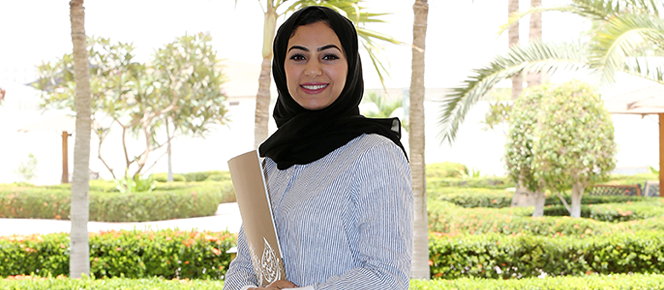 Photo Rasha Malik, Manager of DAH's systems and applications unit and a certified Blackboard administrator at the university